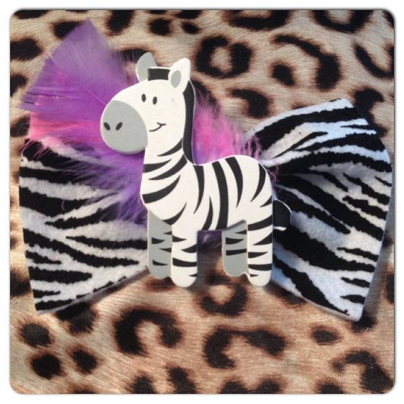 Specialty zebra print  BOW hair accessories or for pet on Etsy, $8.00 CAD