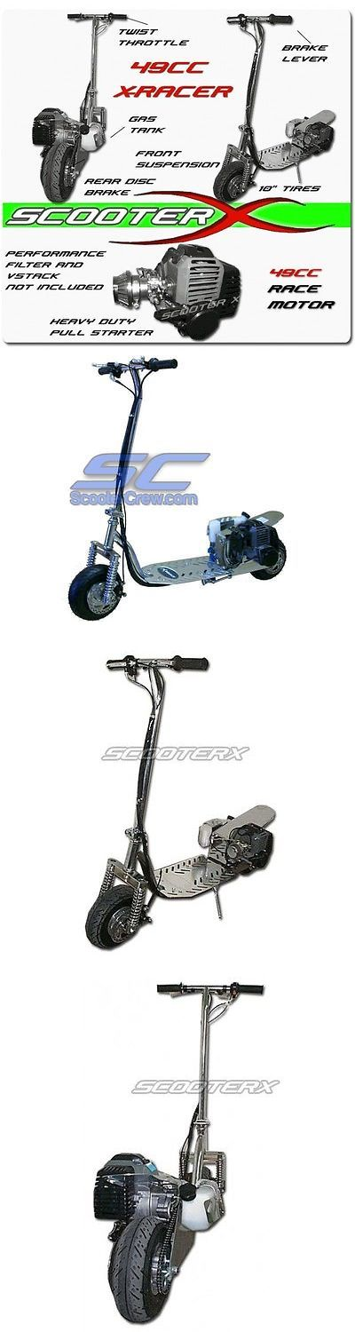 Gas Scooters 75211: Scooterx Gasoline Race Chrome Gas Motor Scooter 2015 Billet Deck Xracer 2 Stroke -> BUY IT NOW ONLY: $398.99 on eBay!
