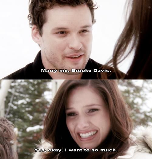 Little tidbit for my future boyfriend/fiance/husband, when proposing: Do it OUTSIDE on a NICE DAY in either fall or winter. No fancy dinner or big elaborate plan, the more spur of the moment it is, the more surprising and special it is <3   One Tree Hill