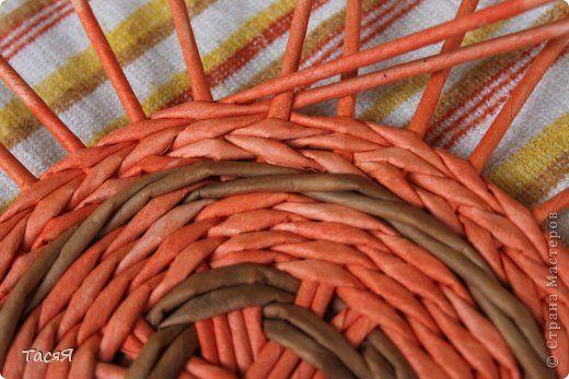 """""""Вязаное"""" плетение, а также окрашивание трубочек способом """"меланж"""". Переход в вязании"""