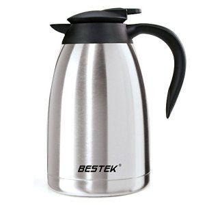 BESTEK Contenants isothermes Thermos de Café en Acier Inoxydable 1.5L 100% Anti-deversements & Anti-fuites