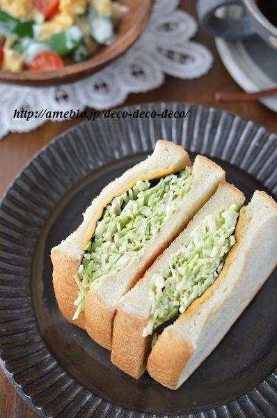 和風な沼サン!「わさびバター×海苔×春キャベツのサンドイッチ」 + ...