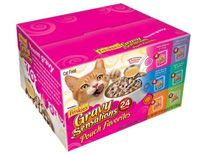 Friskies Gravy Sensations Pouch Favorites, 6-Flavor Variety Pack, 3-Ounce Pouches (Pack of 24)