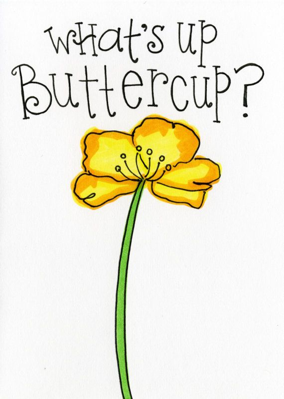 What S Up Buttercup By Deb Funkhouser On Etsy Etsy