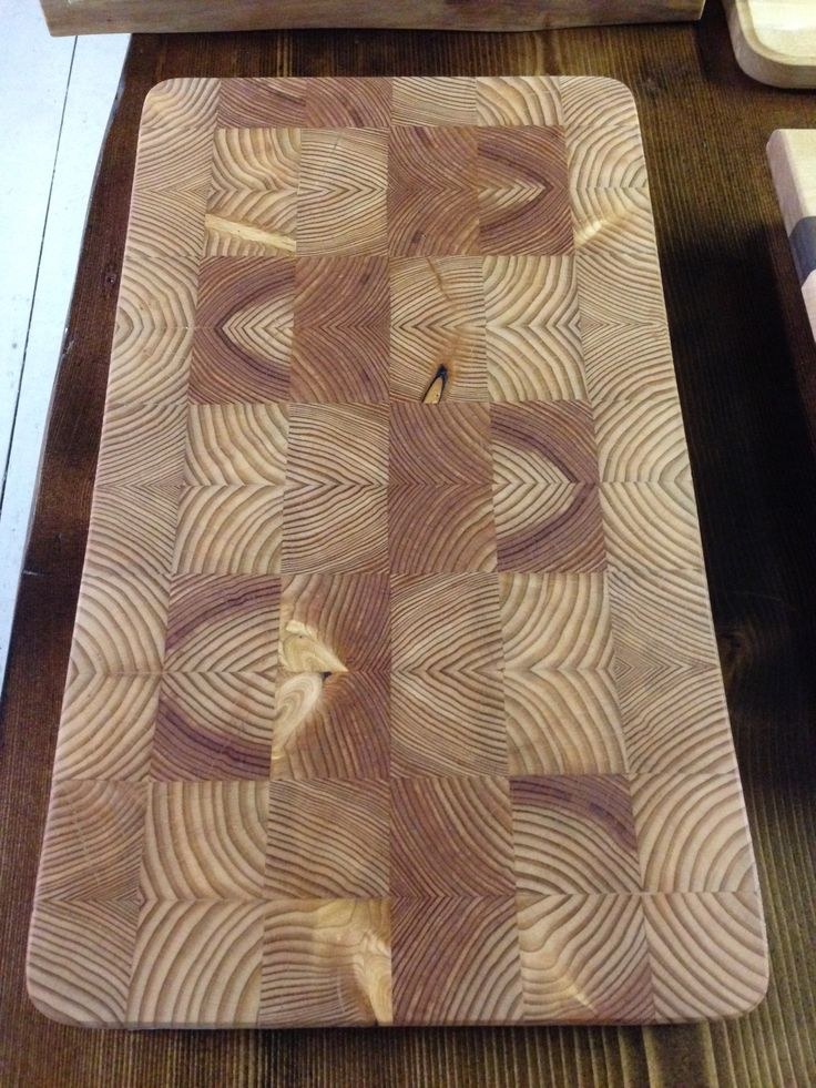 End grain larch butcher block cutting board.   For sale fb.com/fireside.woodwork