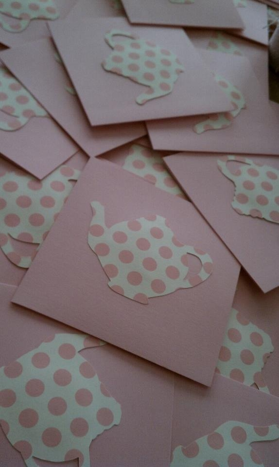 Tea party baby shower invitations Maybe with