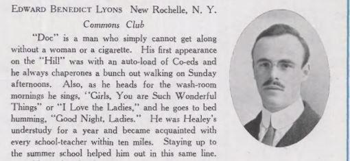 UConn Yearbook Biographies 1915 https://twitter.com/NoEscalators/status/902614489513807874