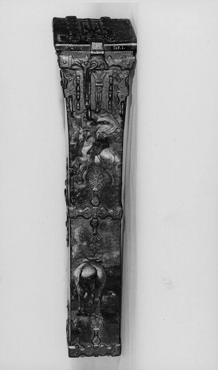 Antwerpen, 1501-1600, pijlkoker (hout, leer, verf), Museum Vleeshuis, Antwerpen (70,5 cm)