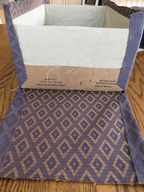 Cover box with fabric: different fabric for inside & outside