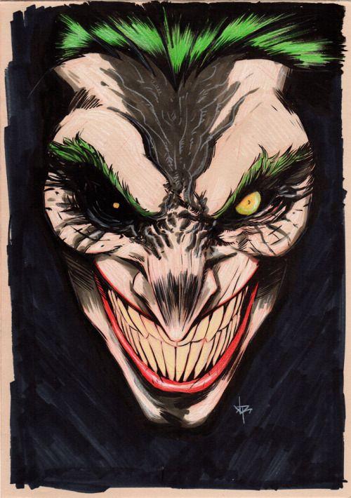 Joker [Black ink, grey copic and color pencils on A4 250g natural] #joker #batman #killingjoke #dccomics