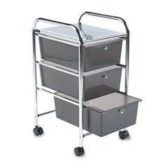 ** Portable Drawer Organizer, 15-1/2w x 13d x 27h, Chrome/Smoke **  #COU #Home