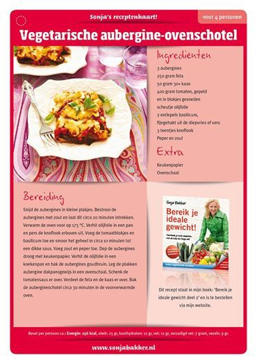 Vegetarische aubergine ovenschotel. Sonja Bakker.