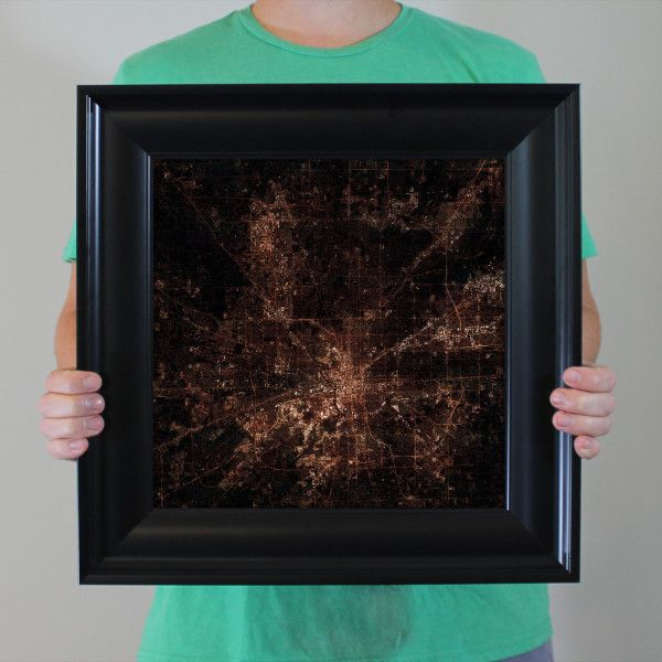 Best Cities At Night Prints Images On Pinterest City Print - Us map satellite