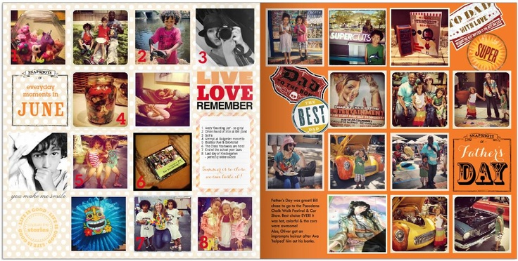 More June happenings & everyday moments for my Shutterfly Project Life photobook.