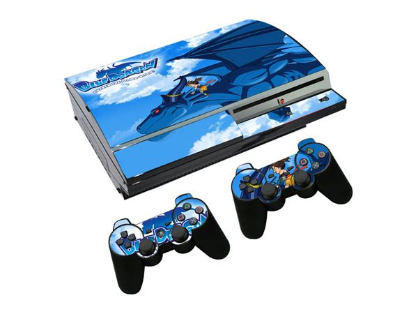 >> Click to Buy << Blue Dragon For Play Station 3 fat 1 Pcs Console Skin Stickers + 2 Pcs controller Stickers for PS3 fat wireless controller #Affiliate