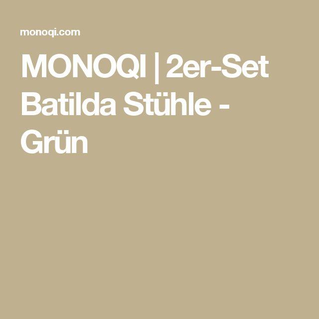 MONOQI | 2er-Set Batilda Stühle - Grün