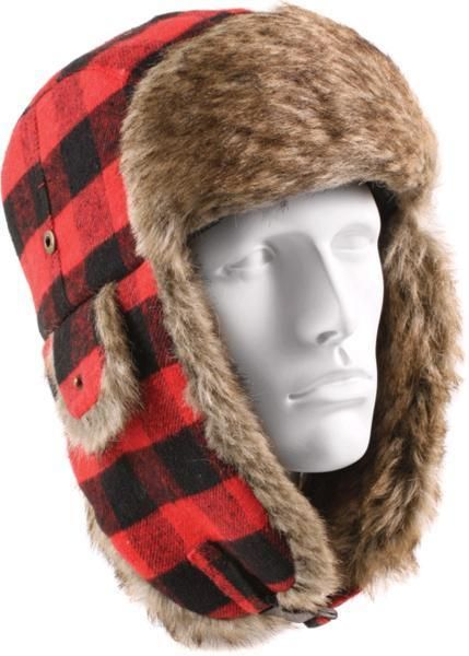 5fc1dd28dce Buffalo Plaid - Cold Weather Fur Flyers Hat