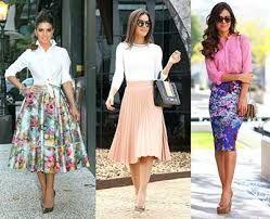 Resultado de imagem para roupa na moda saia