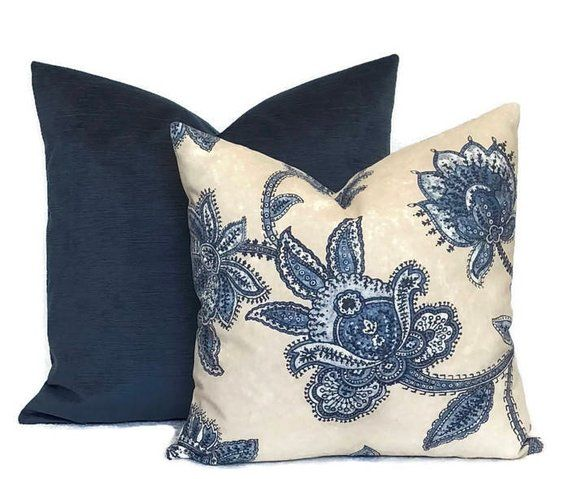 Blue pillow cover Blue throw pillow