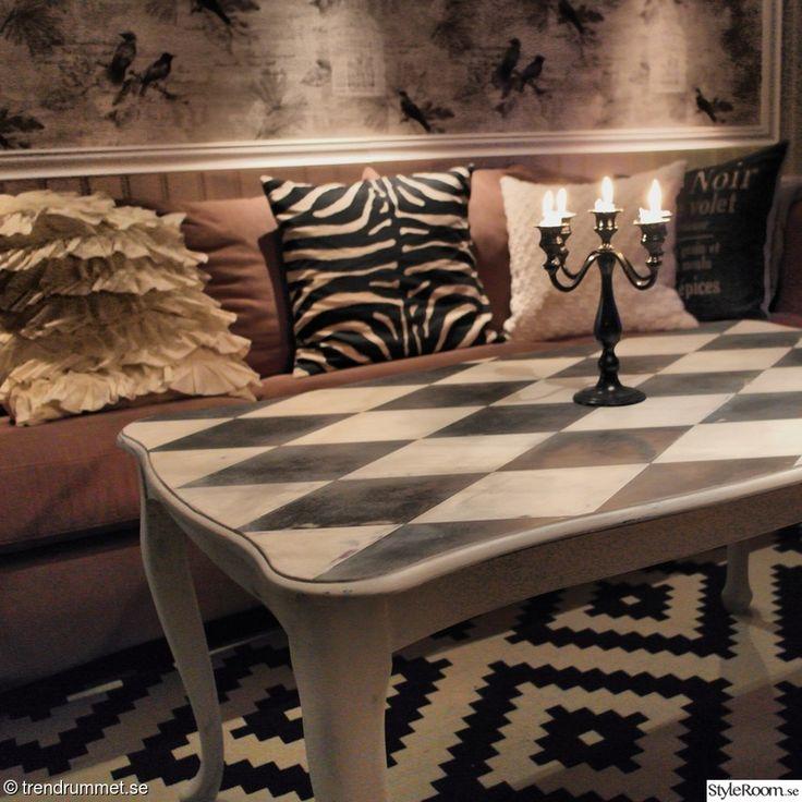 soffbord,svart och vitt,vardagsrum,harlequin,grafiskt