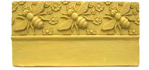 Bee and Flower Edging Stone Mold - Garden Molds