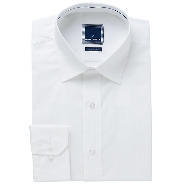 Available on auction: Daniel Hechter Tailored Fit Mens White Cotton Shirt - Size 16.5""