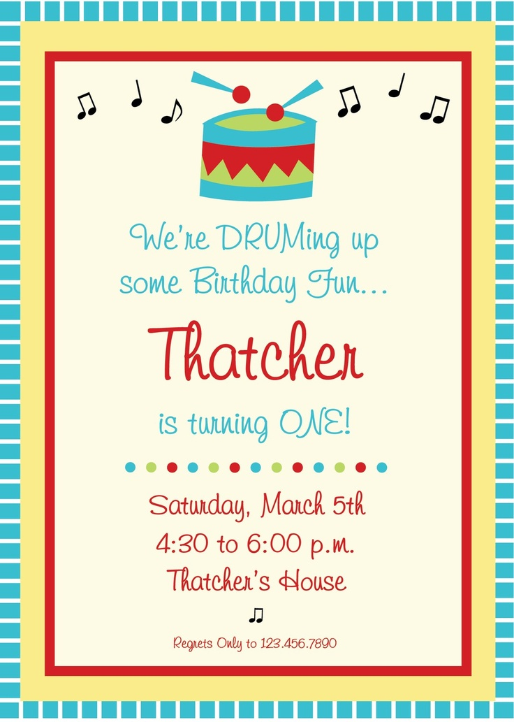 Music Birthday Party Invitation. $12.00, via Etsy.