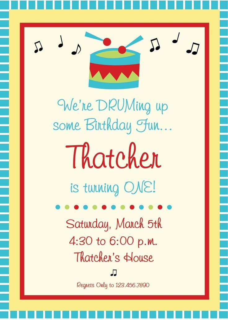 Music Birthday Party Invitation.