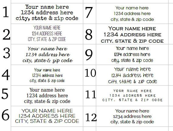 Best 25+ Clear address labels ideas on Pinterest Print address - mailing address labels template