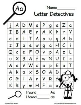 letter detectives printable a z letter searches search printable letters and letters. Black Bedroom Furniture Sets. Home Design Ideas