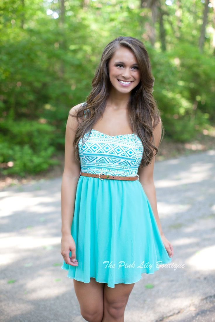 The Pink Lily Boutique - Aqua Aztec Mini Dress, $38.00 (http://thepinklilyboutique.com/aqua-aztec-mini-dress/)