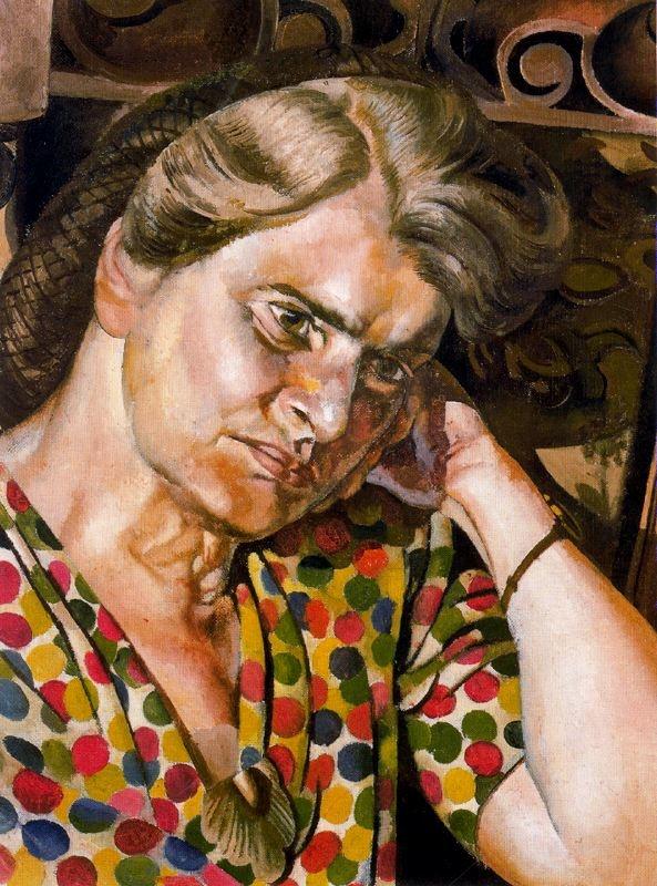Stanley Spencer (1891–1959), Portrait of Hilda, 1949, Oil on canvas, 45.7 x 36.2 cm