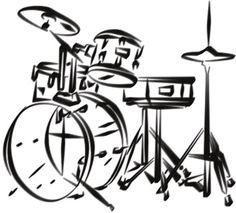 drum set drawing - Google Search