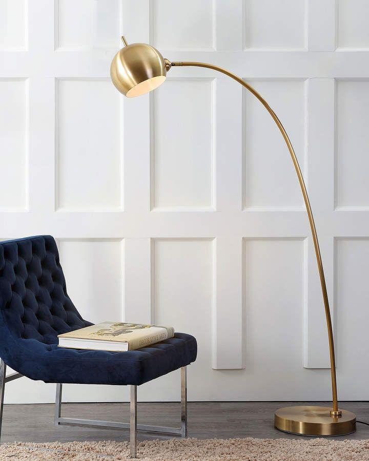 Safavieh Belami Curved Arc Floor Lamp Curved Floor Lamp Gold Floor Lamp Floor Lamps Living Room
