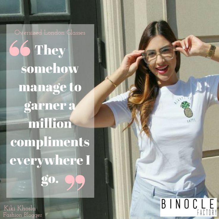 Kiki, fashion blogger, love the way she doesn't go unnoticed wearing the oversized London frames