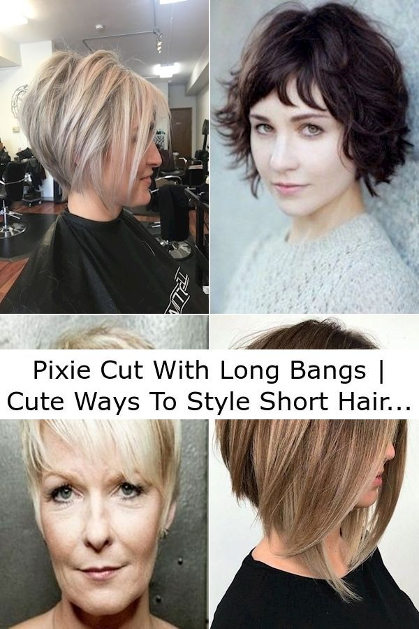 30++ Short hair styles with long bangs ideas in 2021