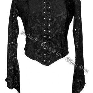 """www.gothlab.com - Your gothic desire maglia in velluto e pizzo """"Non sono gli #abiti costosi o #accessori di valore a rendere una #donna unica, ma come li sa portare. La #classe non si compra!"""" Giselle Blanc #gotico #goth #gothic #abbigliamento #woman #vampire #dolly #victorian #style #stile #maglia #tshirt #pizzo #velluto #elegante #wicca #witch #strega"""