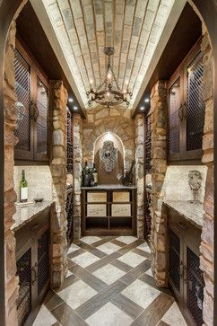 Closet converted into a Custom Wine Cellar - mediterranean - wine cellar - nashville - Germano Wine Cellars