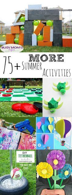75+ MORE Summer Activities / by BusyMomsHelper.com / Fun kid activities / Great family activities