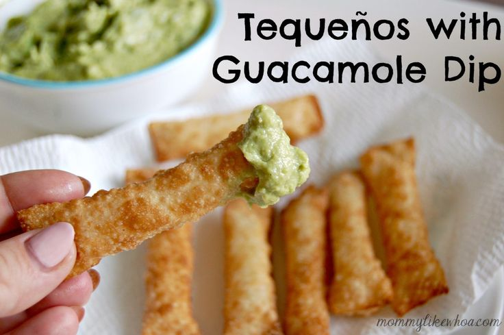 Tequeños with Guacamole Dip - mommylikewhoa.com