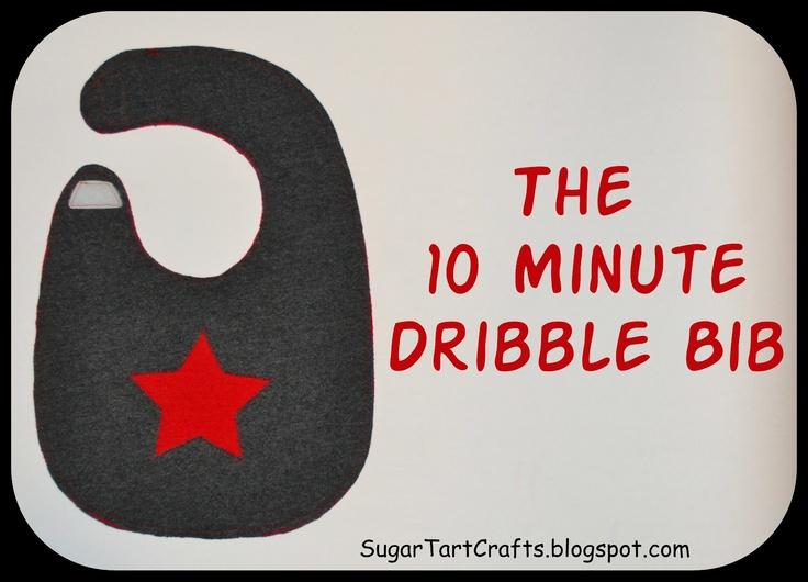 Sugar Tart Crafts: 10 Minute Dribble Bib Tutorial (T-shirt up-cycle)