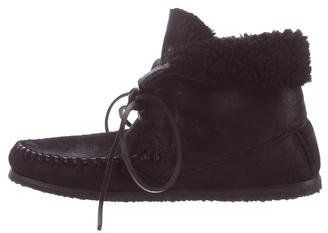 Etoile Isabel Marant Shearling Moccasin Ankle Boots