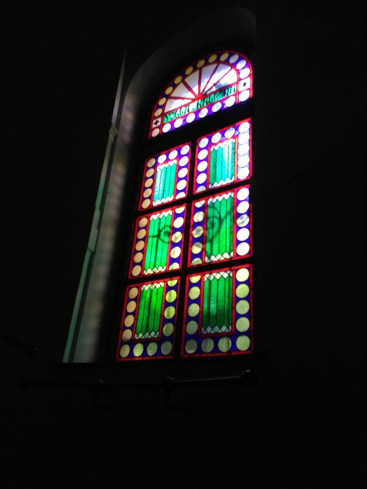 Elkészült a legújabb ólomüveg ablakom. A mintázatot Aczél Péter építész rekonstruálta az eredeti ólomüveg ablak alapján