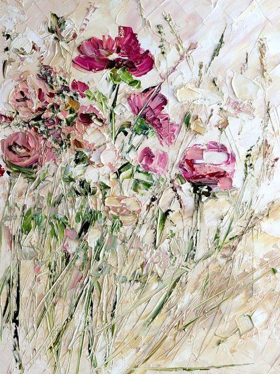 Marina Matkina    Artworks   Oil painting flowers, Painting, Texture