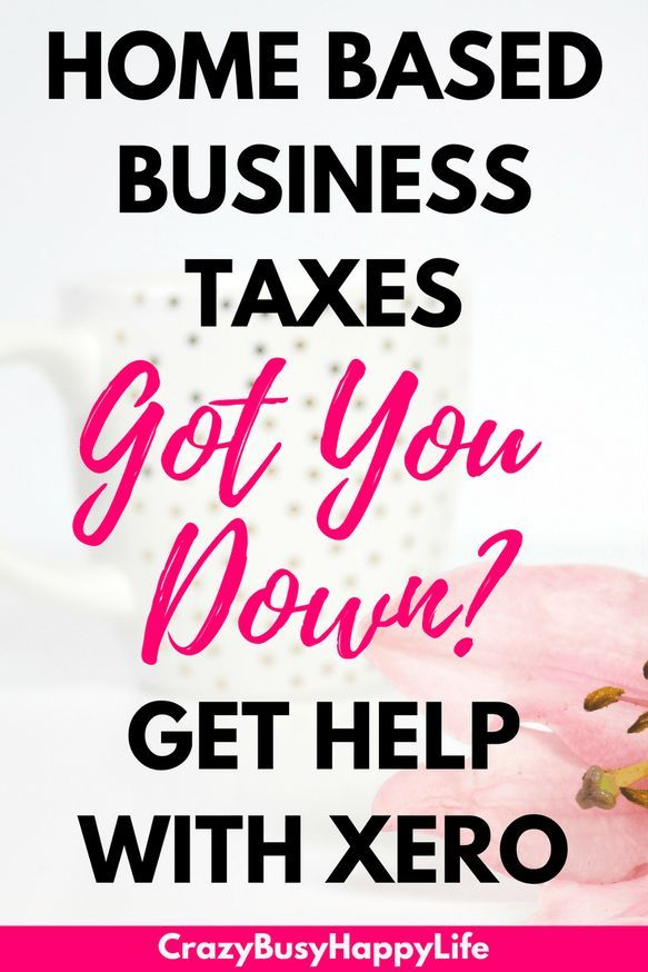 Don't let your home based business taxes get you down. Xero accounting software might be exactly what you need. It's great for small and larger businesses.
