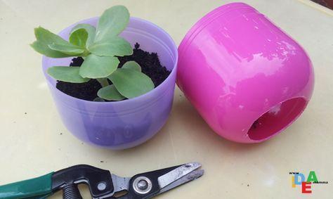 Come riciclare le uova di plastica delle sorprese trasformandole in mini serre