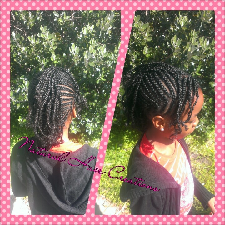 Kids Cornrow style natural hair Creations
