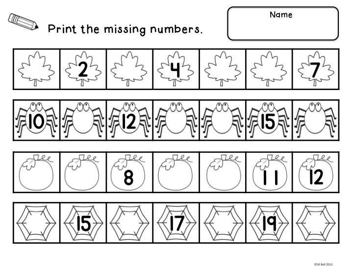 ... 20. A center activity and worksheets focusing on number order to 20