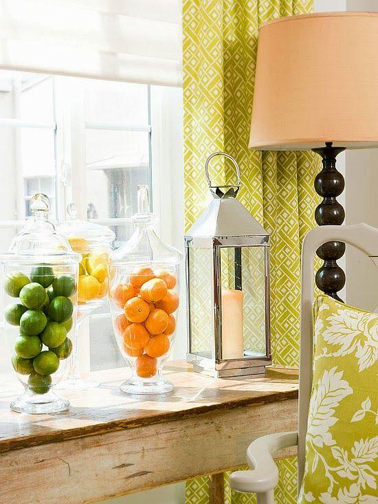 frutas no vidro ficariam lindas na cozinha!