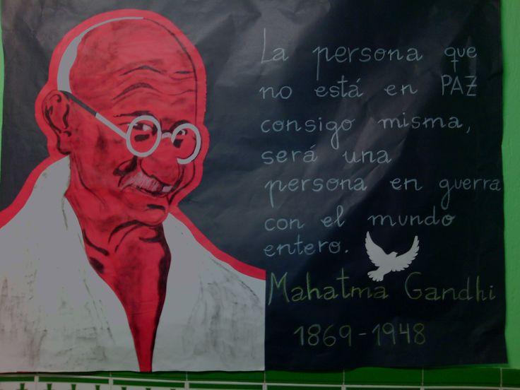 Mural elaborado por nuestra compañera de logopedia Dioni para conmemorar el Día de la Paz 2016.